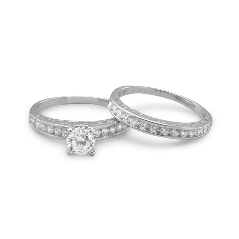 Wedding Band Ring Set Sterling Silver - deelytes-com