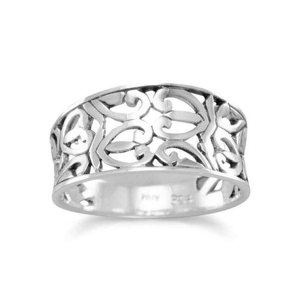 Heart Design Sterling Silver Ring - deelytes-com