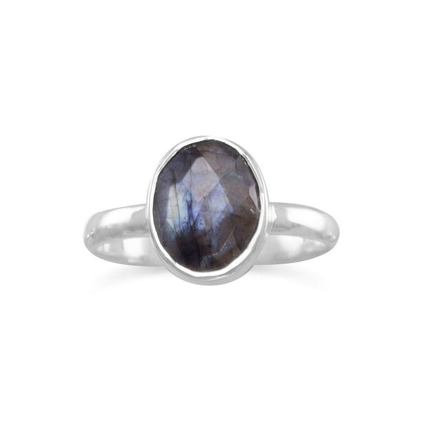 Faceted Labradorite Stackable Ring - deelytes-com