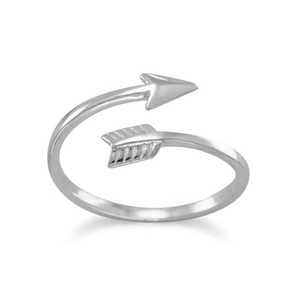 Aim High Arrow Wrap Around Sterling Silver Ring - deelytes-com