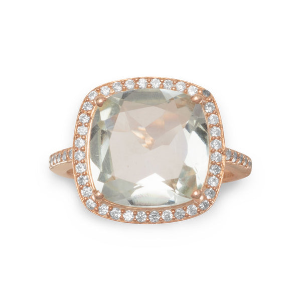 14K Rose Gold Prasiolite Ring - deelytes-com