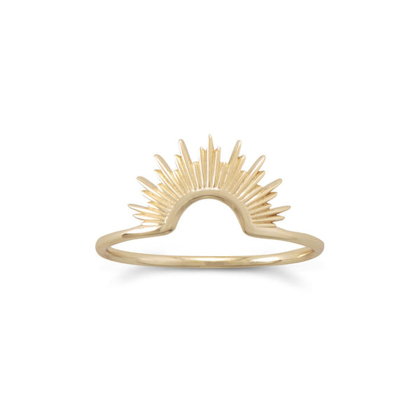 Gold Sunburst Ring - deelytes-com