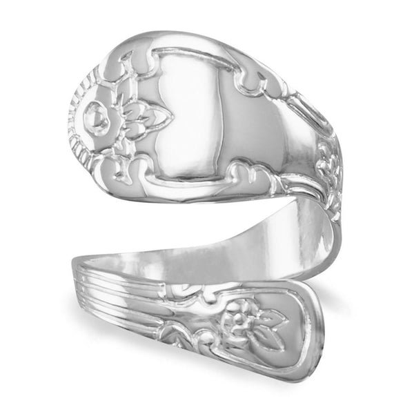 High Polish Sterling Silver Spoon Ring - deelytes-com