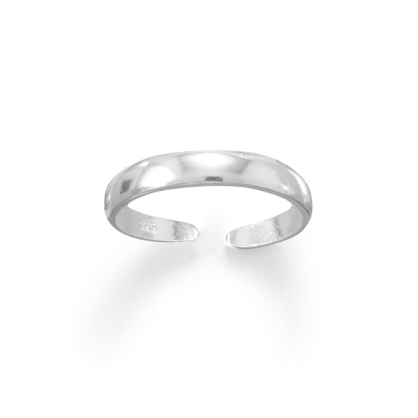 Slim Band Polished Sterling Silver Toe Ring - deelytes-com