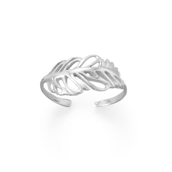Sterling Silver Feather Toe Ring - deelytes-com