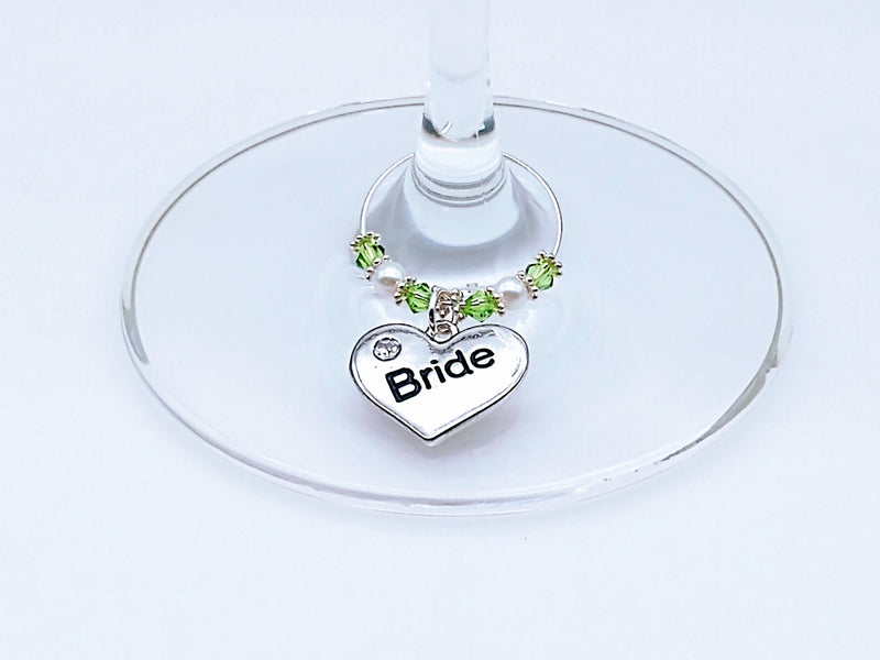 Wedding Wine/Champagne Glass Charm Ring/Marker, Favor, 7 Color Options - deelytes-com