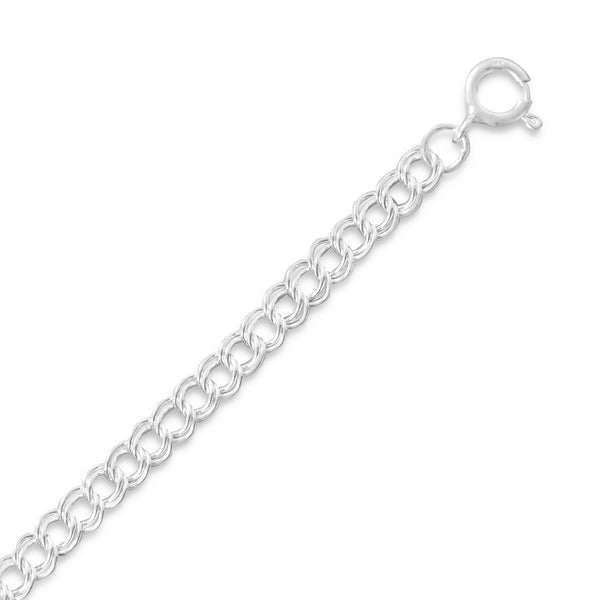 "5mm (1/5"") Light Charm Bracelet Sterling Silver - deelytes-com"