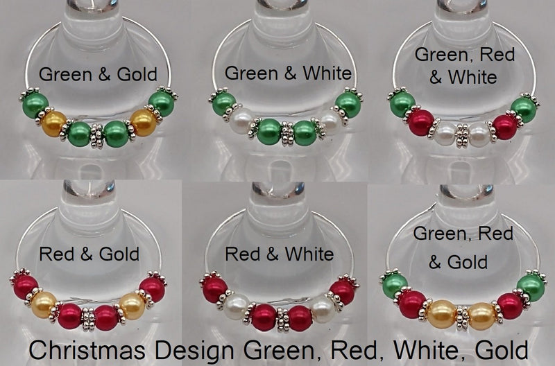 Christmas Tree Wine Glass Charm Ring, Marker - deelytes-com
