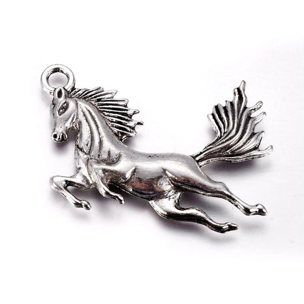 Horse Flying Wine Glass Charm Ring, Marker - deelytes-com