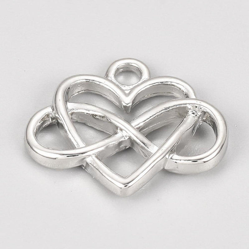 Heart & Infinity Sign Wine Glass Charm Ring, Marker - deelytes-com