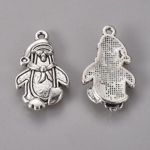 Christmas Penguin Wine Glass Charm Ring, Marker - deelytes-com