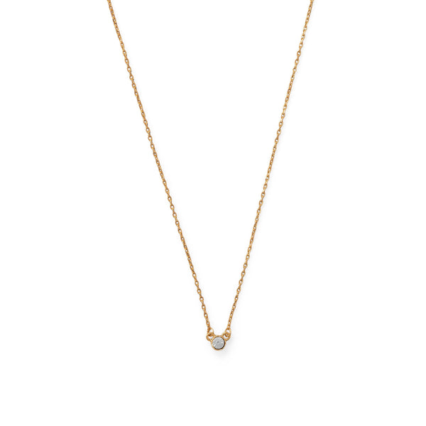 14 Karat Gold Plated Swarovski Crystal Necklace Necklaces