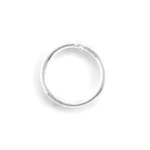 6mm Sterling Silver Closed Jump Rings (Package of 50) - deelytes-com