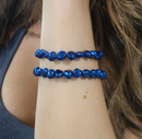 Dark Blue Cultured Freshwater Pearl Stretch Bracelet - deelytes-com