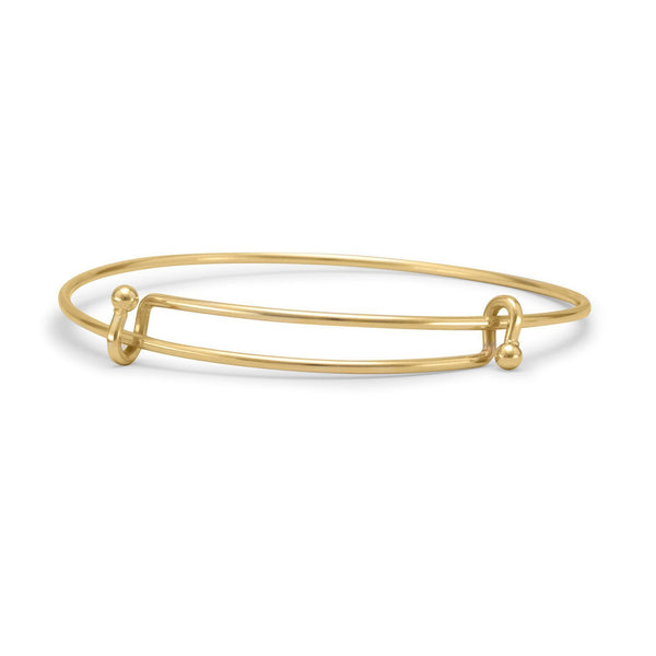 Gold Tone Expandable Wire Fashion Bangle Bracelet - deelytes-com