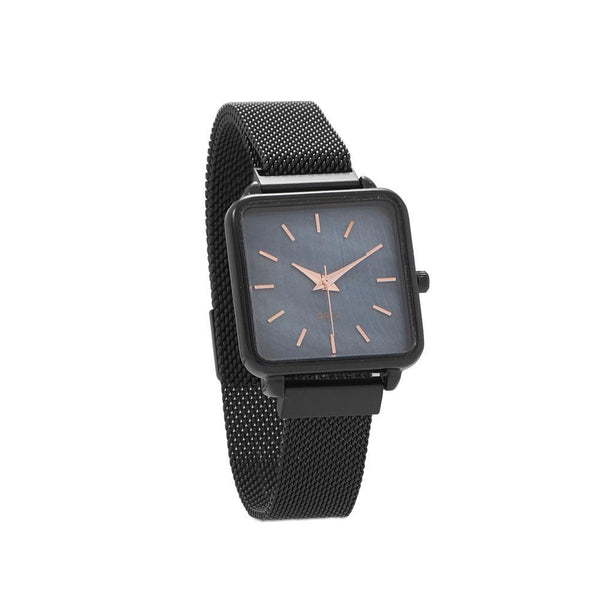 Black Mesh Magnetic Fashion Watch - deelytes-com