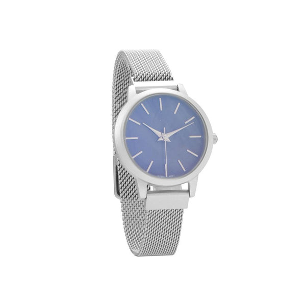 Silver Men's Mesh Magnetic Fashion Watch - deelytes-com