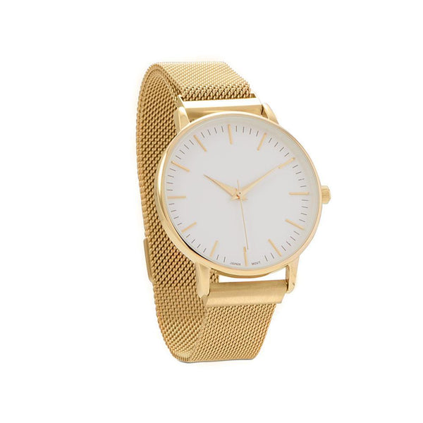 Gold Mesh Men's Magnetic Fashion Watch - deelytes-com