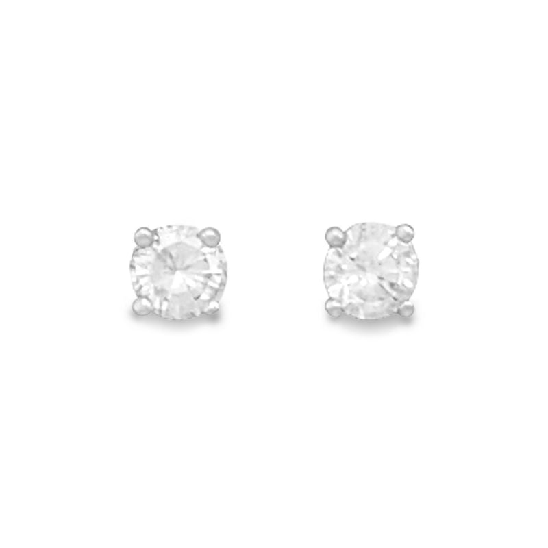 April Birthstone Sterling Silver Stud Earrings - deelytes-com
