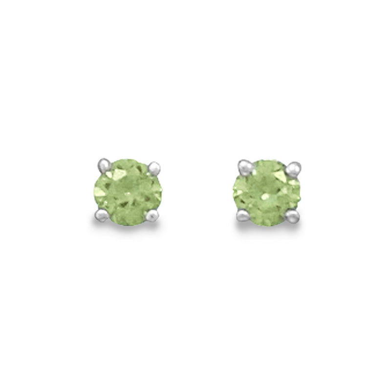 August Birthstone Sterling Silver Stud Earrings - deelytes-com