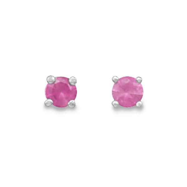 July Birthstone Sterling Silver Stud Earrings - deelytes-com