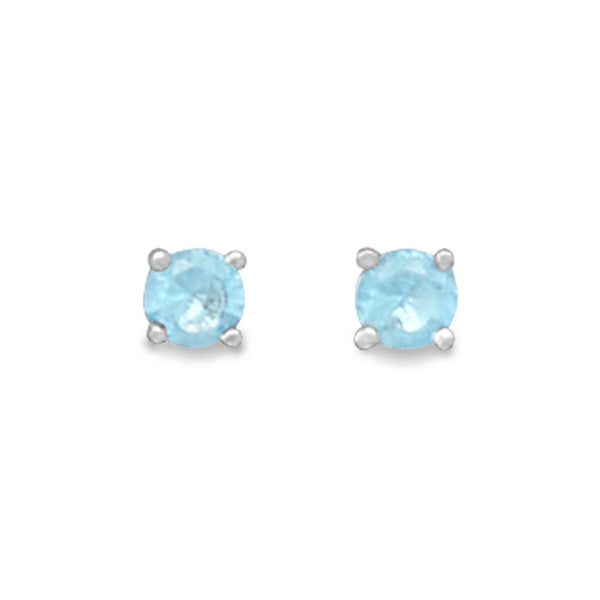 March Birthstone Sterling Silver Stud Earrings - deelytes-com