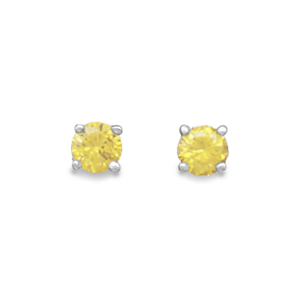 November Birthstone Sterling Silver Stud Earrings - deelytes-com
