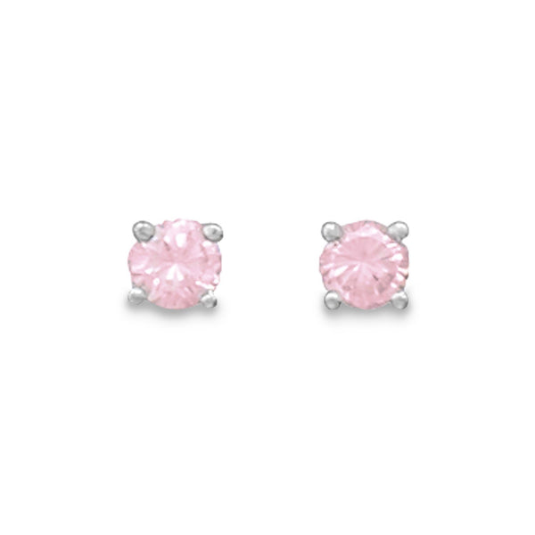 October Birthstone Tourmaline Sterling Silver Stud Earrings - deelytes-com