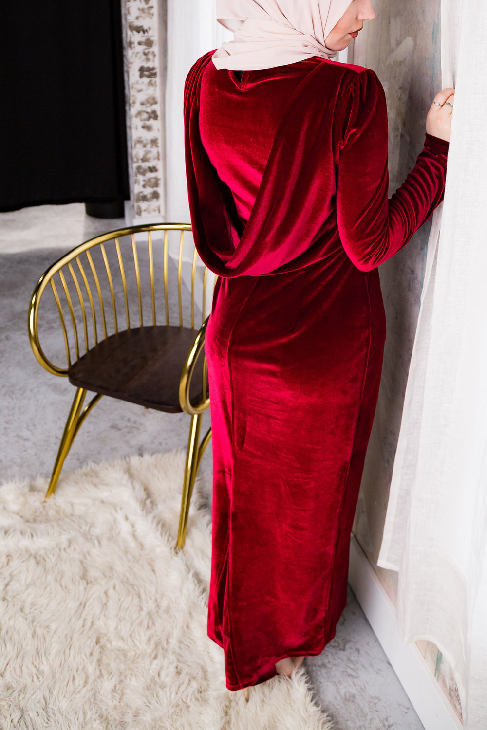 Ruby Back Draped Pencil Dress