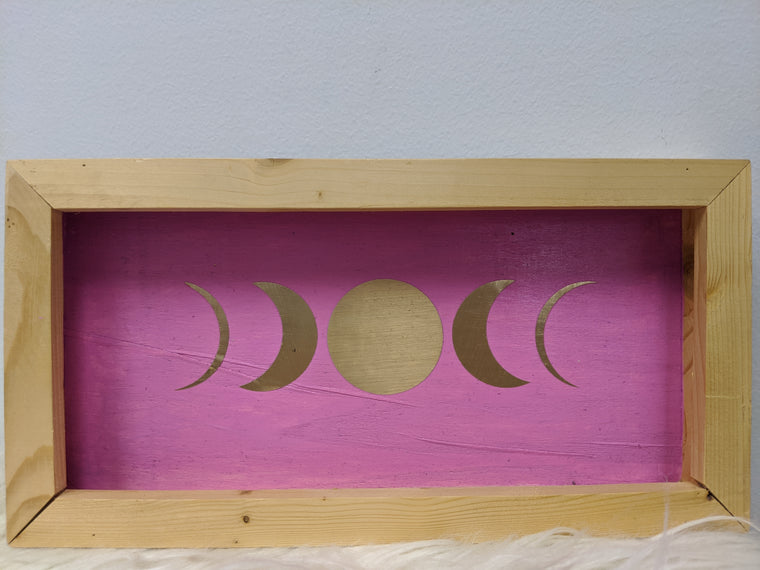 Moon Phases Wooden Decor
