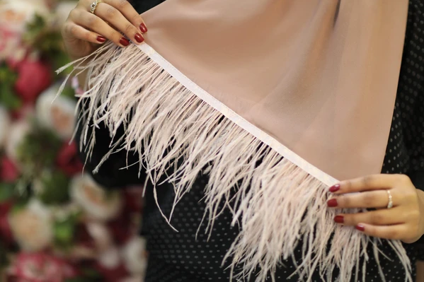 Chiffon Feather Hijab