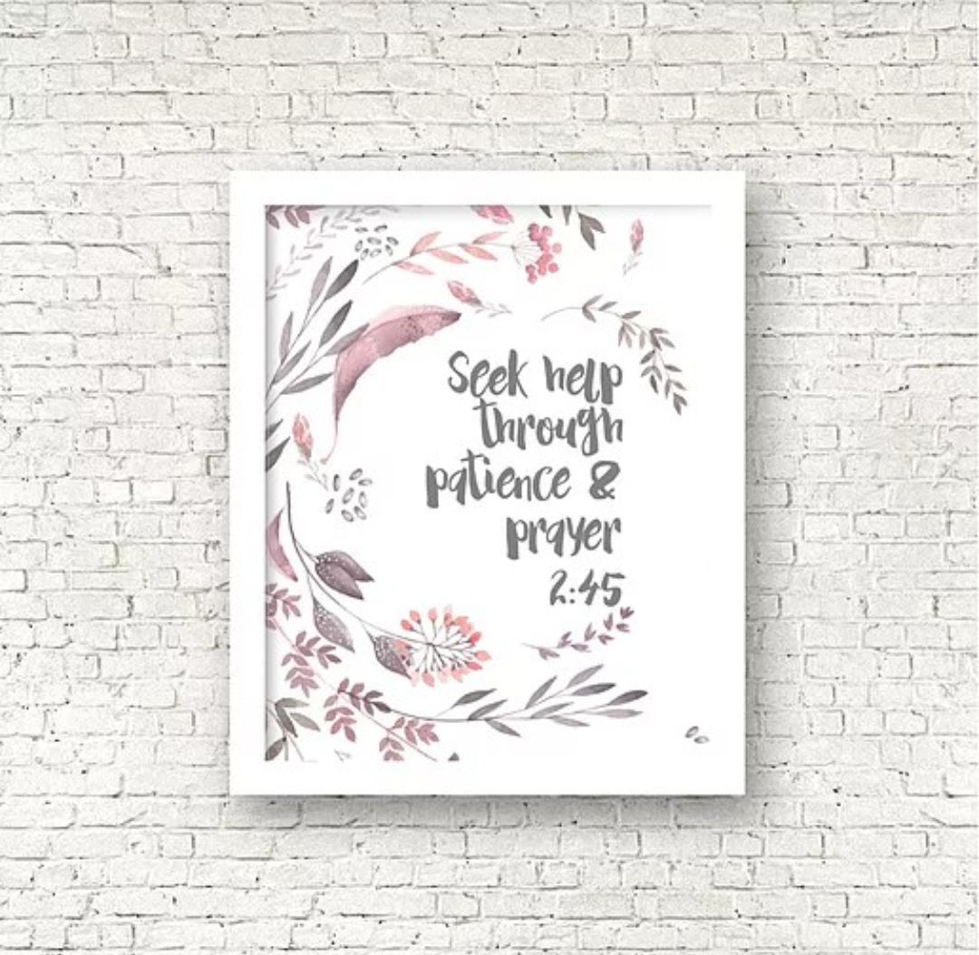 Seek help through patience & prayer Print
