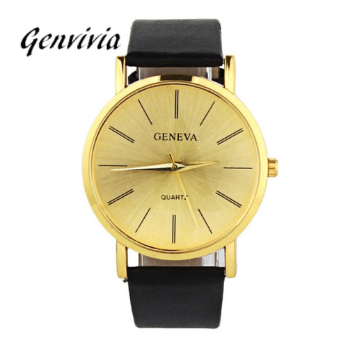 Genvivia Ladies Watch Gold Trendy Fashion Casual Available in 7 Colors