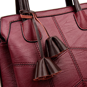 Women's Bag Genuine Leather Fashion Handbag. High Quality Sheepskin Shoulder Bags.