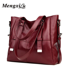 Quality Women Bags Soft Patchwork Ladies Casual Tote Bags