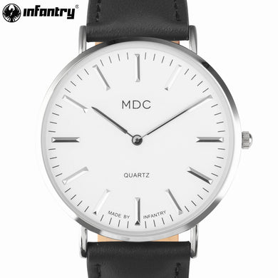 Luxury Top Fashion Brand INFANTRY Casual Quartz Watch Leather Ladies Watch
