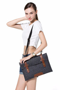Laptop Shoulder Bag for Macbook Air Pro 13.3 15.6 inch/Surface Book/Dell