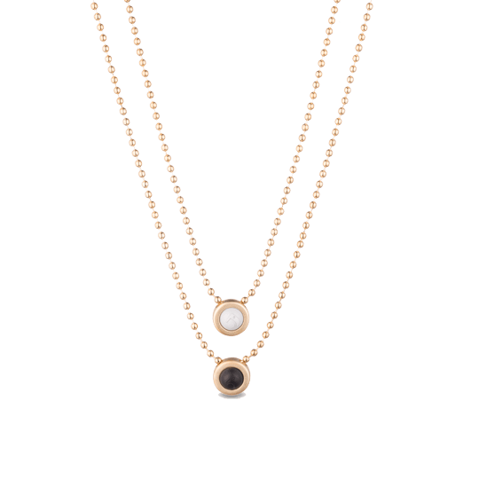 Double Ball Necklace - Slider Image 1