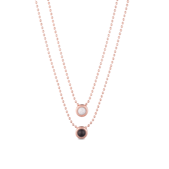 Double Ball Necklace - Slider Image 3