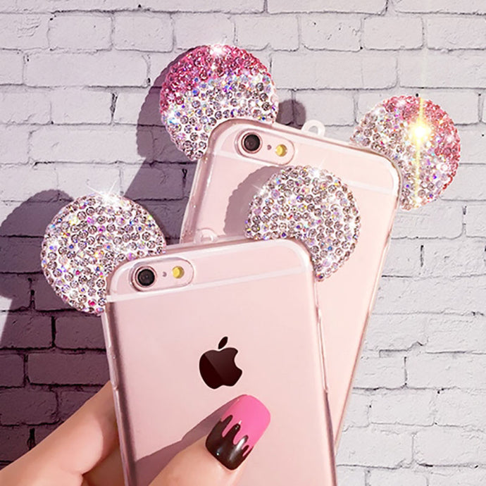 Glittery Mice Ears Case