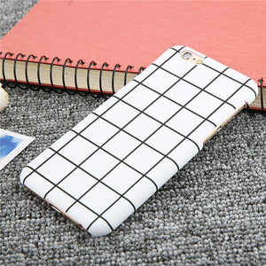 Ultra Thin Black and White Check Phone Case
