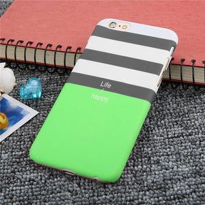 Ultra thin Black, White and Green Striped Phone Case