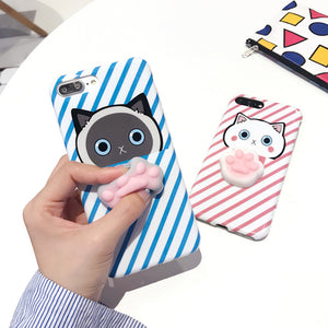 3D Squishy Cat Paw Phone Case