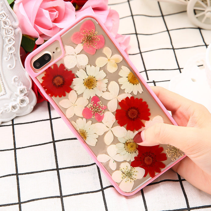 Real Dried Flowers Phone Case