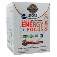 SPORT Organic Energy + Focus SF Blackberry Cherry