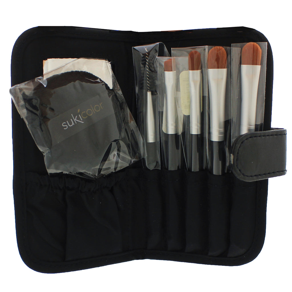 brush set with case & puff