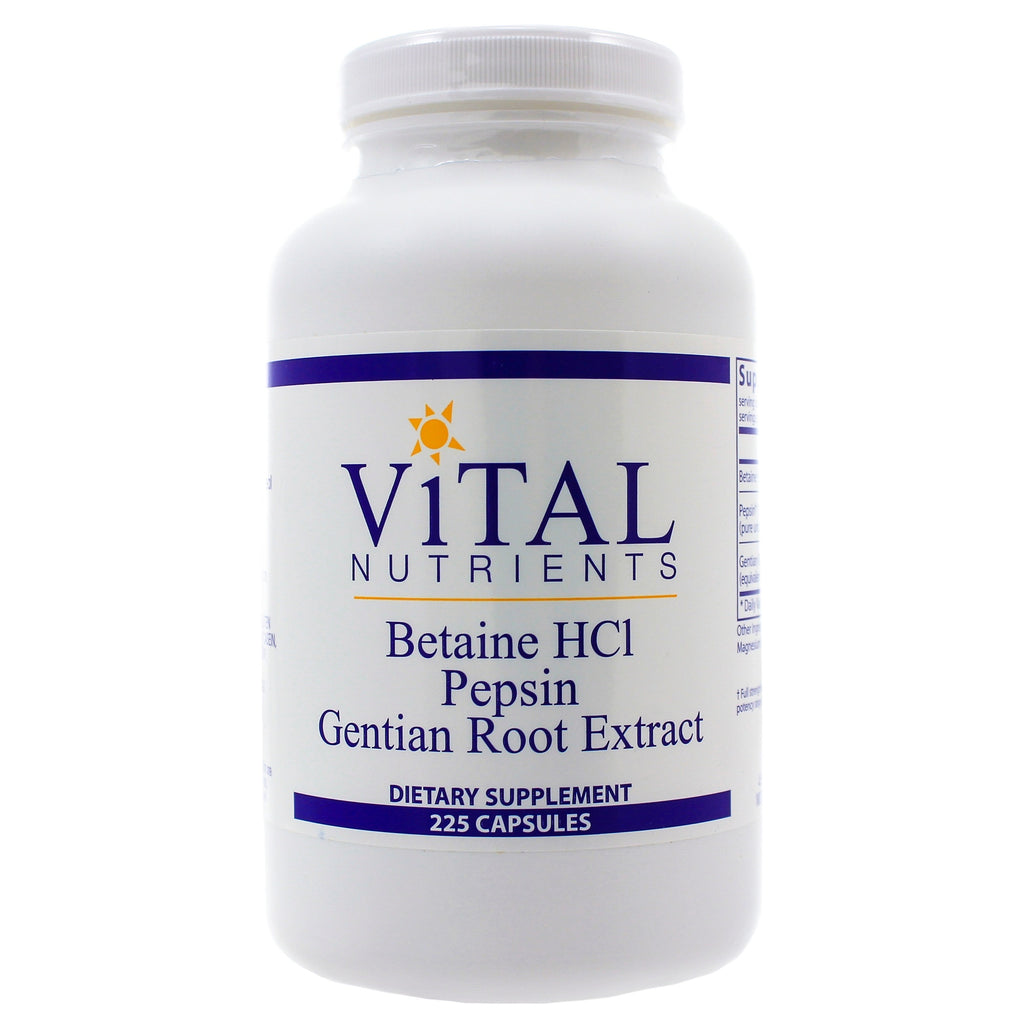 Betaine HCL Pepsin and Gentian Root Extract