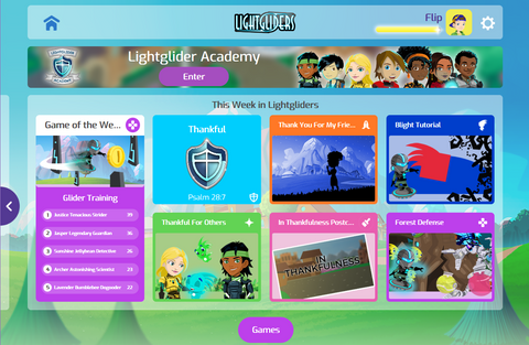 Lightgliders - Tons of games for kids, videos, and adventures for families - Hope, Purpose and Christian Values through Fun and Games