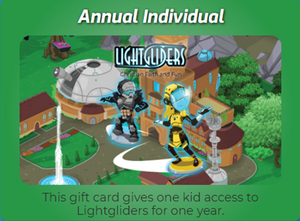 Lightgliders Annual Individual Gift Card