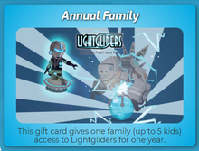 Lightgliders Annual Family Gift Card